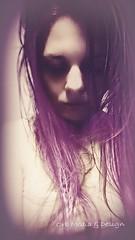 Dear Death (Gypsy_Orb) Tags: photomanipulation photoshop story transform create imagine melbourne orbmediadesign orbmd orb girl portrait memory purple grief guilt dying dead zombie dream contrast washout faded curiosity morbid dear death weird