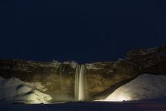 seljalandfoss catarata nocturna (rubenzmata) Tags: water winter night waterfall iceland islandia