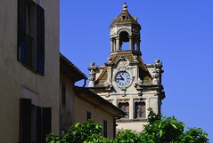 Town Hall (petrk747) Tags: alcúdia mallorca balearicislands spain townhall oldtown clock clocktower tower bluesky mediterraneansea travelling town outdoot trees green