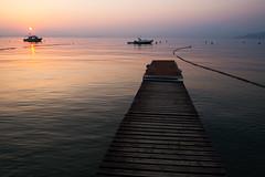 Sunset @ Lake Garda IV (Marcel Cavelti) Tags: dscf7788bearb lake garda lazise gardasee lagodigarda sunset spring sun water