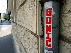 Graffiti in Ljubljana 2017 (kami68k -all over-) Tags: ljubljana slovenia 2017 grafffiti illegal bombing sticker streetart street art sonic