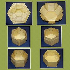 hexagonal box variation (mganans) Tags: box origami seamless
