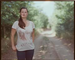 V (Attila Pasek) Tags: 120 cinestill800t mamiya rb67 bokeh camera dirtroad film mediumformat portrait woman