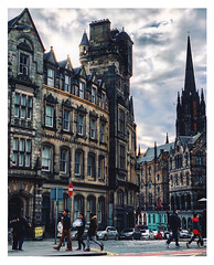 Royal Mile, Edinburgh (shahamasajid) Tags: edinburgh highstreet streets architecture buildings scotland sky road building