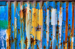 Colored Crate (RoamingTogether) Tags: 283003563 akranes europe hdr iceland nikon nikond700 shippingcontainer tamron