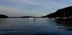 2018-05-04_06-36-39 Pittwater Twilight. (Boat bloke) Tags: sydney australia pittwater barrenjoey coast water blue headland lighthouse boat samsung galaxy s4