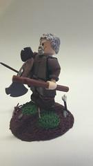 Old viking on his last journey (oskarlechner04) Tags: vikinglegovikinglegolegofigure legohistoryfimo lego legohistory vignette viking roman greek history figure vikings spearman axe shield stand custome warrior