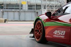 Challenge 458 wheel and side (Dag Kirin) Tags: challenge 458 wheel side rims orange rosso red aero lines pitlane ferrari gt days 2018