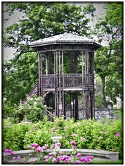 Sonnenberg Gardens & Mansion Historic Park ~ Canandaigua NY  - Viewing  Tower (Onasill ~ Bill Badzo) Tags: tower observation deck viewing area case iron sonnenberg gardens mansion historic park canandaigua ny ontario county onasill nrhp queen anne architecture historical building japanese garden flower foral hdr finger lakes plant serene echinacea coneflower macro bright