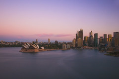 After Sunset in Sydney Harbour (satochappy) Tags: sydney sydneyharbour sydneyoperahouse dusk twilight