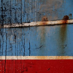 Boat 1 (No Great Hurry) Tags: thenakedabstract thestade oil rust foundpainting abstract may2018 fishingboat hastings splatter splash blue red redwhiteandblue decay boat robinmauricebarr nogreathurry
