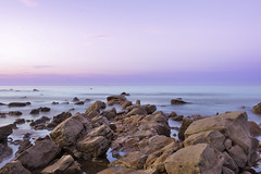 Relax... (- A N D R E W -) Tags: atardecer sunset beach color colorful long exposure seascape landscape sea water sky rocks rockpool waves uk north east