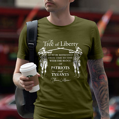 The Tree of Liberty must be refreshed from time to time with the blood of Patriots and Tyrants. T-Shirt. (Sons of Liberty Tees) Tags: 2ndamendment americanpride apparel ar15 clothing colddeadhands conservative defendthesecond donttreadonme gunrights guns happy instagood instastyle liberty menfashion mensfashion mensstyle menstyle menswear molonlabe patriot patriotic patriots pewpew righttobeararms sonsoflibertytees style tshirts
