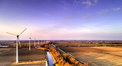 The road towards Schagen. (Alex-de-Haas) Tags: oogvoornoordholland dji dutch fc6310 holland nederland nederlands netherlands noordholland aerial aerialphotography air boerenland drone energie energy farmland landscape landschaft landschap lucht meadows skies sky sundown sunset weilanden wind windmill windturbine windmolen winter zonsondergang oudkarspel nl
