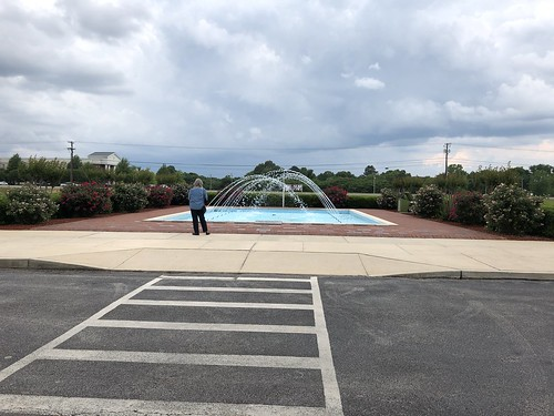 c2018 May 18, Music Hall of Fame Rose Garden & Fountain