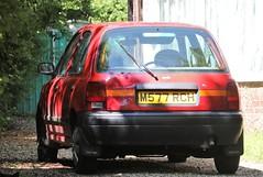 M577 RCH (Nivek.Old.Gold) Tags: 1994 nissan micra lx auto 5door 1275cc ilkeston coop