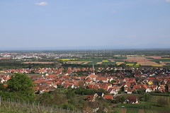 View of Kintzheim from the castle (cedricbonhomme) Tags: tourist destination clear sky townscape rural scene field horizon over land grass countryside landscapes castle