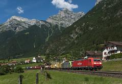DB 185.106 Silenen 31/07/2010 (stefano.trionfini) Tags: train treni bahn zug db bls br185 silenen gottardo gotthard uri svizzera suisse