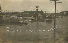 1916 Flood - Winnipeg Boat Club Underwater (vintage.winnipeg) Tags: winnipeg manitoba canada vintage history historic