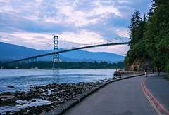 This Makes Me Wanna Give My Two Week's And Move (...Iwonttell) Tags: vancouver bc britishcolumbia sunset dusk bridge lionsgatebridge colourful colours landscape park stanleypark canada vancity