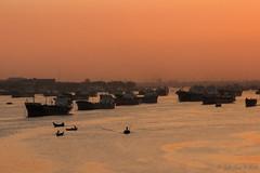 Untitled (Galib Emon) Tags: riverscape sunset ship boat outdoor beautiful river sky silhouette water landscape canoneos7d flickr explore karnaphuliriver chittagong bangladesh galibemon travel photowalk colour explorerbangladesh dusk sunlight