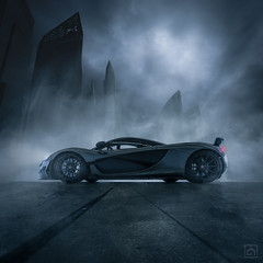 Mclaren P1 (kris greenwell) Tags: car automotive maclaren p1 hypercar supercar dramatic singapore grey gray mist fog smoke dreamcar atmosphere sports fast composite clouds