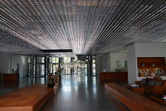 2018-04-FL-183470 (acme london) Tags: aluminium aluminiumreflectors barcelona ceiling fira hotel interior jeannouvel leatherfurniture lobby renaissancehotelfira spain suspendedceiling