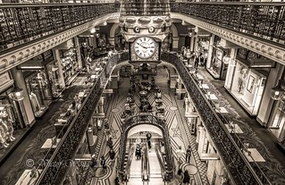 Interior of the iconic Queen Victoria Building (QVB)