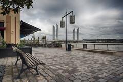 mobilier urbain (alouest225) Tags: alouest225 nikon d750 nikon1635 bordeaux aquitaine gironde france banc pont hdr