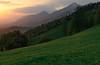 View from Krvavec (happy.apple) Tags: ambrožpodkrvavcem kranj slovenia si krvavec kamniškosavinjskealpe alps kamniksavinjaalps slovenija sunset clouds regrat dandelion spring mountains
