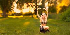 Sunset, Bokeh and ... (d heinz) Tags: mia luna bauchtänzerin belly dancer bokeh trioplan 100 orientalischer tanz oriental dance