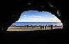 Hálsanefshellir (wyojones) Tags: iceland reynisfjara reynisfjal víkímýrdal vík basalt beach blacksand cave cliff alcove volcanics people tourists wedding hálsanefshellir