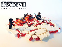 """Star Wars Episode VIII - The Last Jedi - """" Amazing. Every word of what you just said was wrong."""" (New Edit) (KevFett2011) Tags: kevfett2011 starwars episode viii 8 crait lukeskywalker vs kylo ren fight duel landscape salty art lego artist brick build building abs 2018"""