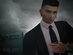 My Person (Nikky-May) Tags: mesh people secondlife male new digital flickr sl avatar him tie formal sexy city evening black happy outdoor may second life man men hope fate always heart bestfriend forever