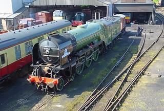 Steam Locomotive Tornado No.60163, undergoing maintenance at Wansford, Nene Valley Railway 05 05 2018