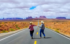 At Forrest Gump Point (Mimi Ditchie) Tags: monumentvalley monumentvalleytribalpark forrestgumppoint mexicanhat forrestgumppointmexianhat road getty gettyimages mimiditchie mimiditchiephotography