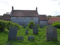 Surprised looking Cottage by Church (Gilder Kate) Tags: burnhamovery burnhamoverytown northnorfolk stclements church churchyard graves gravestones panasoniclumixdmctz70 panasoniclumix panasonic lumix dmctz70 tz70 medieval centraltower
