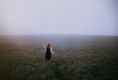 Rising and fading (.everlasting) Tags: girl selfportrait film field fog morning daylight analogue running hair haunted 35mm fading everlasting feverdreams hadararielmagar