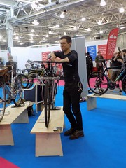 Spin Bike Show 17-05-12 (38) (Funny Cyclist) Tags: bike bicycle cycle velo bici rad radfahrad show 2017 hall olympia blue steel parts seb bespoke