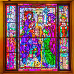 Stain Glass Saints (Kevin MG) Tags: stjohnsseminary religious stainedglass art glass colorful windows saints