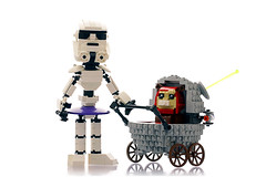 Nanny Trooper (Frost Bricks) Tags: lego stormtrooper nanny ewok pram moc star wars