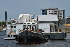 Haven Supporter + TBW Pier @ KGV Dock 14-05-18 (AJBC_1) Tags: riverthames london workboat predatorcharters jumbo ©ajc dlrblog ship boat vessel england unitedkingdom uk northwoolwich eastlondon newham londonboroughofnewham woolwichreach nikond3200 ajbc1 greatbritain gb pier tug havensupporter collinswateragelighterage docklands royaldocks londonsroyaldocks marineengineering tugboat gallionspoint stantug1205 damen damenshipyardsgroup tbwpier trinitybuoywharfpier kgvdock kinggeorgevdock