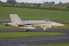 Finnish AF YF-18 Hornet (Dougie Edmond) Tags: prestwick scotland unitedkingdom gb fighter military aircraft airplane egpk airport canon