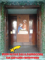 """24.12.2017 La porta della nostra Chiesa in versione ..natalizia! • <a style=""""font-size:0.8em;"""" href=""""http://www.flickr.com/photos/82334474@N06/40322832460/"""" target=""""_blank"""">View on Flickr</a>"""