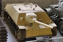 Jagdpanzer IV German WWII tank destroyer, 1944 - Canadian War Museum, Ottawa (edk7) Tags: nikond300 edk7 2013 canada nationalcapitalregion ontario ottawa lebretonflats canadianwarmuseum mechanical machine engineering secondworldwar worldwartwo worldwarii worldwar2 wwii ww2 vehicle military weapon ordnance asset track gun armour jagdpanzerivgermanwwiitankdestroyer1944 krupppanzerjägerkanone75mmpak42l70antitankgun maybachhl120trmwatercooledpetrol60°v12440hp