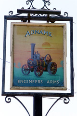 Engineers Arms, Leiston. (piktaker) Tags: suffolk pub inn bar tavern pubsign innsign publichouse leiston engineersarms adnams