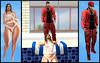 Drippin (Pixel Beast) Tags: blue clouds pool drippin dripping wet blueberry blueberrysl rie half dry argrace chizuru hourglass white vexing laced belleza signatura jake gianni slnk maitreya man cave mancare fli fliposites sweatsuit sneakers venus isis freya lara slink physique red