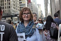 handout (greenelent) Tags: notrump protest demonstration riseandresist streets people activists nyc newyork