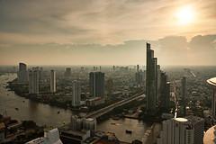 Bangkok (Fred Lin) Tags: cityscape sunset bangkok chaophraya river towercluboflebua statetower
