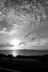 Okinawa Sunset (HCC1985) Tags: fuji xt10 bw sunset beach cloud 沖繩